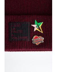 Bonnet Aglae Pins Badge Bordeaux - Femme Zadig & Voltaire en coloris Multicolor