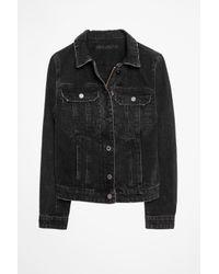 Zadig & Voltaire Black Kioky Used Jacket
