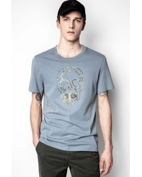 Zadig & Voltaire Blue Ted T-shirt for men