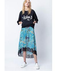 Jupe Joslin Glam Rock Zadig & Voltaire en coloris Blue