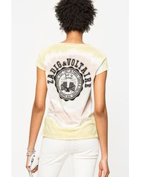 Zadig & Voltaire Multicolor Tunisien Tie And Dye T-shirt
