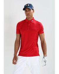 J.Lindeberg | Red Tour Tech Slim Polo Shirt for Men | Lyst