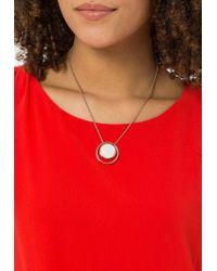Skagen   Metallic Sea Glass Necklace   Lyst