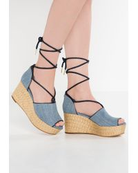 MICHAEL Michael Kors   Blue Hastings Wedge Sandals   Lyst