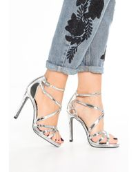 New Look   Metallic Sabrina Sandals   Lyst