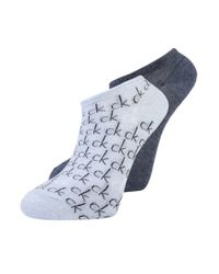 Calvin Klein | Blue Repeat Logo 2 Pack Socks | Lyst