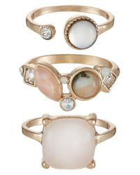 ALDO | Metallic Gwenawet 3 Pack Ring | Lyst