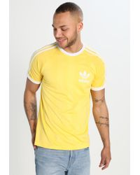 Adidas Originals | Yellow Print T-shirt for Men | Lyst