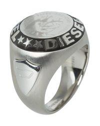 DIESEL | Metallic Gent Ring Ring for Men | Lyst