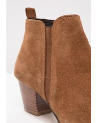 Dune Brown Perdy Block Heeled Ankle Boots