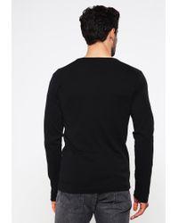 Esprit | Black Slim Fit Long Sleeved Top for Men | Lyst
