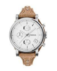 Fossil | Brown Original Boyfriend Chronograph Watch | Lyst