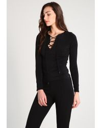 Guess | Black Larin Long Sleeved Top | Lyst