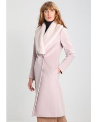Reiss | Pink Franchesca Classic Coat | Lyst