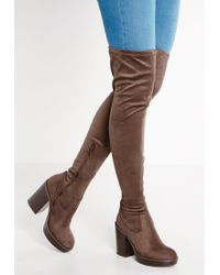 River Island | Brown High Heeled Boots | Lyst