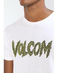 Volcom   White Tetsunori Stone Print T-shirt for Men   Lyst