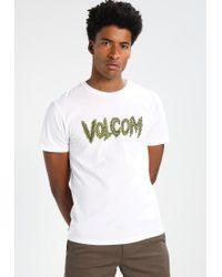 Volcom | White Tetsunori Stone Print T-shirt for Men | Lyst