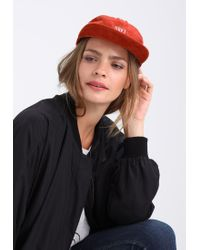 Obey | Red Hazel Panel Cap for Men | Lyst