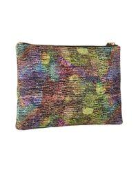 Lodis Multicolor Dots Rfid Flat Pouch