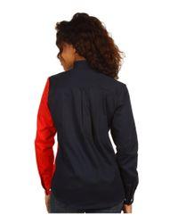 Roper White Texas Pieced Flag Shirt (natural) Women's Clothing