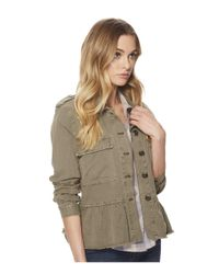 Lucky Brand - Green Peplum Utility Jacket (olive) Women's Coat - Lyst