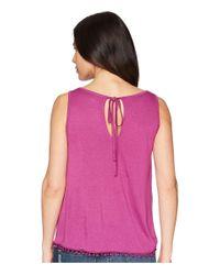 Three Dots Purple Vintage Jersey Swing Top