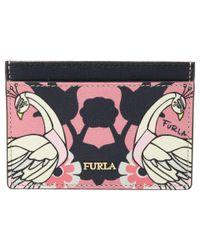 Furla Pink Babylon Small Credit Card Case