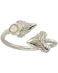 ALEX AND ANI Metallic Shark Tooth Ring Wrap - Precious Metal (sterling Silver) Ring