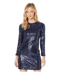 Vince Camuto Blue Sequin Long Sleeve T-body