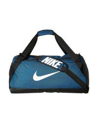 Nike - Blue Brasilia Medium Duffel Bag (black/black/white) Duffel Bags for Men - Lyst