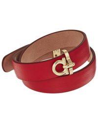 Ferragamo Red Br Double Pl Bracelet