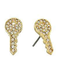 Marc Jacobs - Metallic Respect Key Studs Earrings - Lyst