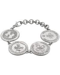 Gucci Metallic 4 Charm Coin Bracelet