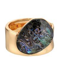 Robert Lee Morris - Metallic Abalone And Gold Kick Hinge Bangle - Lyst