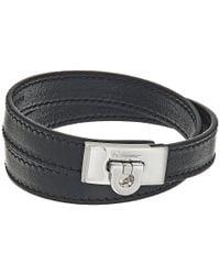 Ferragamo | Black Gancio Bracelet | Lyst