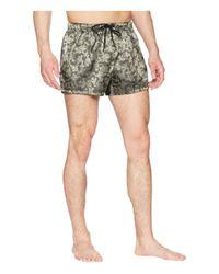 Versace - Barocco Jacquard Short Trunk (military Green) Men's Swimwear for Men - Lyst