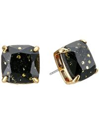 Kate Spade - Black Small Square Studs - Lyst