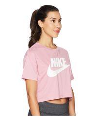 Nike - Sportswear Essential Crop Top (elemental Pink/elemental Pink/white) Women's T Shirt - Lyst