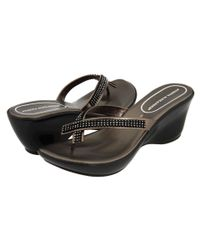 Athena Alexander Metallic Roxi (pewter) Women's Wedge Shoes