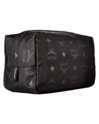 MCM - Dieter Monogrammed Nylon Small Cosmetic Pouch (black) Cosmetic Case - Lyst
