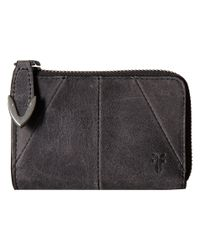 Frye Black Jacqui Small L Zip Wallet