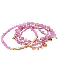 Kendra Scott Multicolor Supak Bracelet (rose Gold/lilac/mix) Bracelet