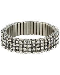 Steve Madden Metallic Rhinestone Bar Stretch Bracelet
