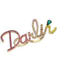 Betsey Johnson - Multicolor Pave Darlin Ring - Lyst