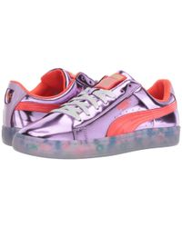 PUMA Pink Basket Candy Princess Sw S Purple Patent Leather Sneakers Shoes
