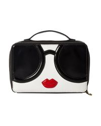 Alice + Olivia Black Ally Stace Face Zip Around Cosmetic Case