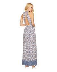 Brigitte Bailey Blue Katelina Halter Maxi Dress