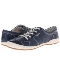 Josef Seibel Blue Caspian (imola Denim Leather) Women's Shoes