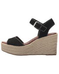 Sam Edelman Dimitree (black Velutto Suede Leather/vaquero Saddle Leather) Wedge Shoes