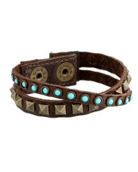 Leatherock Blue B337 (kodiak Brown/turquoise) Bracelet